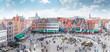 canvas print picture - Grote Markt square in Brugge