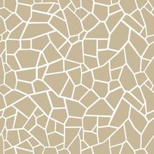 Stone Seamless Texture. Stone Overlay Texture. Mosaic Tracery Texture. Design Background. Vector Illustration.