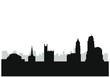 city skyline cincinnati in united states