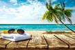 Leinwandbild Motiv Summer background of free space for your decoration and hot day.