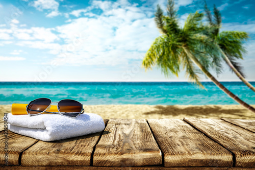 Summer background of free space for your decoration and hot day.