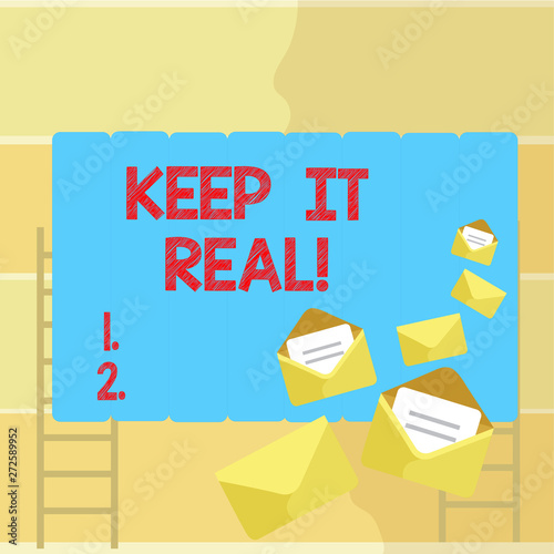 Word writing text Keep It Real Wallpaper Mural