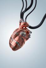 Artificial Heart Copper - Portrait
