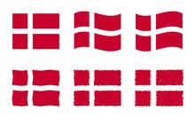 Denmark Flag Vector Illustrati...