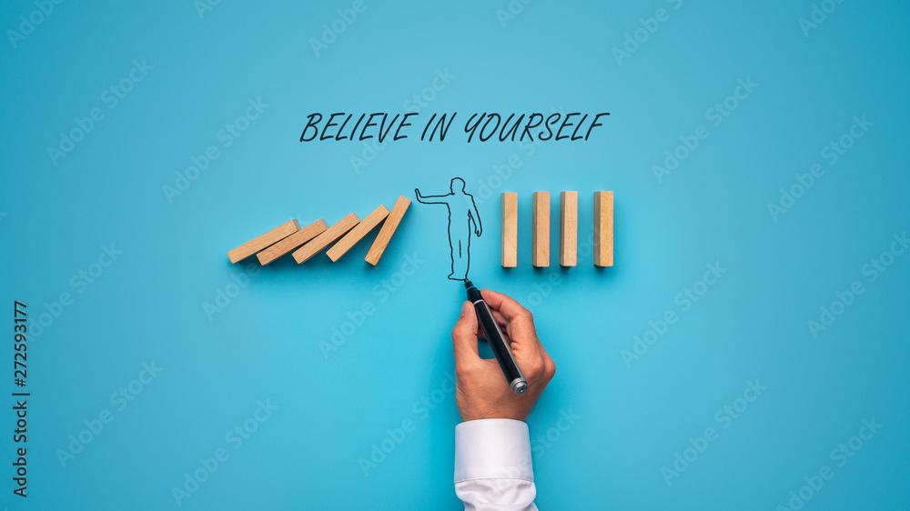 Fototapeta Believe in yourself sign