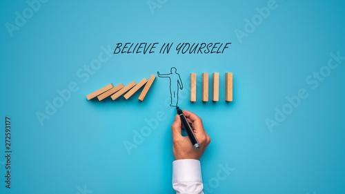 Pinturas sobre lienzo  Believe in yourself sign