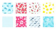 Summer Seamless Pattern Background Set Pack