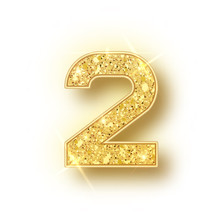Gold Glitter Alphabet Numbers ...