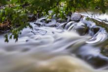 Rapid Stream Flowing Over Rock...