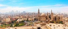 The Mosque-Madrassa Of Sultan Hassan  In The Panorama Of Cairo, Egypt