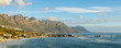 canvas print picture - Glorious coastal view along Cape Town's Western Seaboard towards Clifton, Camps Bay and 12 Apostles. Cape Town. Western Cape. South Africa