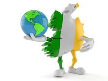 Ireland Character Holding Worl...