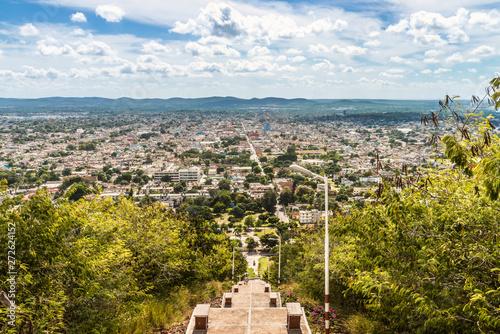 Kuba, Holguin;  Abstieg vom Berg des Kreuzes,   Loma de la Cruz  , 458 Stufen Canvas Print