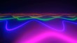 Colorful dance floor with several shining
