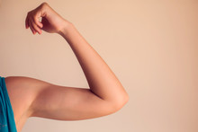 Woman's Arm Isolated. People, ...