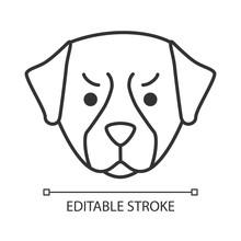 Bernese Dog Cute Kawaii Linear...