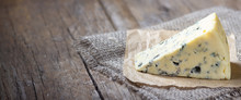 Blue Cheese On Wooden Rustic T...