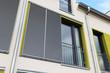 canvas print picture - Fenster mit modernen Schiebeläden