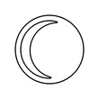 crescent moon icon. Element of Whether for mobile concept and web apps icon. Outline, thin line icon for website design and development, app development