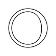 waning crescent moon icon. Element of Whether for mobile concept and web apps icon. Outline, thin line icon for website design and development, app development