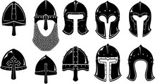 Norman Barbute Medieval Helm Set