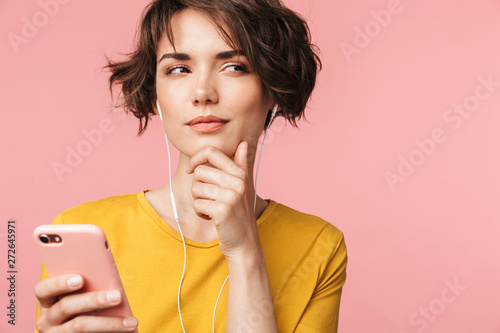 Close up of an attractive young woman standing - 272645971