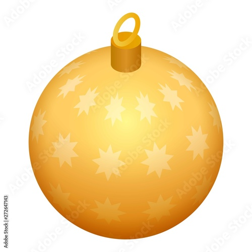 Photo  Golden tree toy ball icon