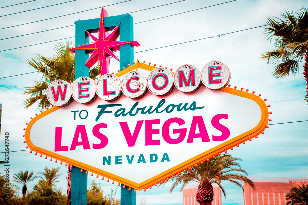 Fotografie, Obraz  Welcome to Fabulous Las Vegas sign, Las Vegas Strip, Nevada, USA