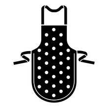 Dotted Apron Icon. Simple Illustration Of Dotted Apron Vector Icon For Web Design Isolated On White Background