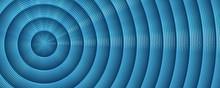 Metallic Blue Circle Background