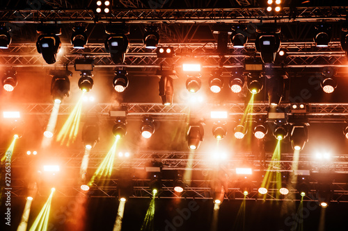 Picture of bright concert lighting on stage - 272653363