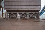 Fototapeta Perspektywa 3d - Industrial buildings in an abandoned factory