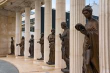 Nine Muses Monument In Skopje, Macedonia