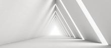 Empty Long Light Corridor. Mod...