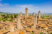 San Gimignano, Vista Aerea Del...