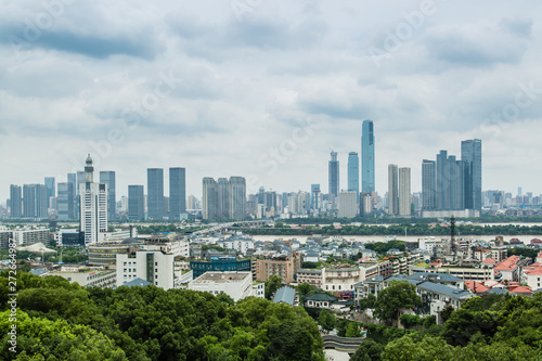 Poster Texas changsha cityscape skyline view from yuelu mountain top