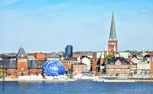 Foto auf AluDibond Nordsee Cityscape of Aarhus in Denmark