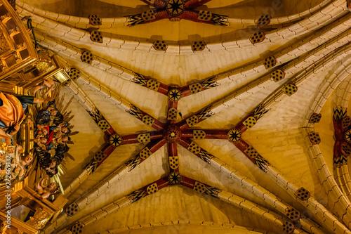 Obraz na plátně  Vault of the chapel of Saint John of Sahagun