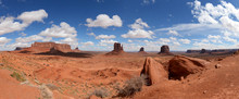 Panoramic View Of Monument Valley National Park