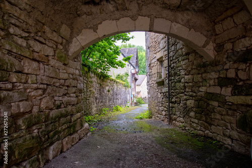 Porche de pierre voute