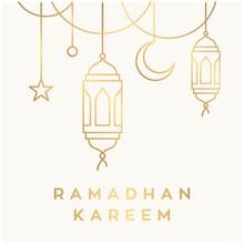 Mosque Line / Ramadan Theme Design Template Background Vector Logo Design