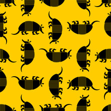 Armadillo Pattern Seamless. Animal Nine-hip Armadillo Background