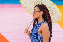 Portrait Of Woman With Parasol