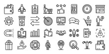 Buyer Icons Set. Outline Set O...