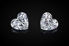 Diamond Isolated On Black Back...
