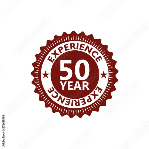 Photo Fifty Years Experience, 50 Years Experience icon, sign, button