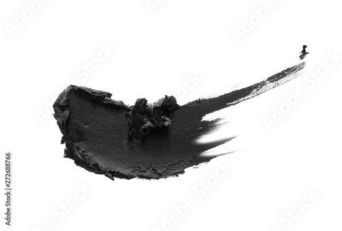 Photo sur Toile Papillons dans Grunge Texture of black crushed eyeliner or black acrylic paint