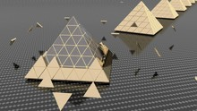 3D Rendering Of Gold And Silve...