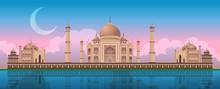 Sunset At Taj Mahal In Agra, I...