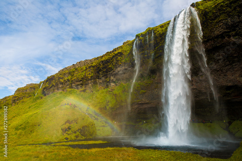 Seljalandsfoss and rainbow